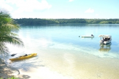 Beautiful Calm Water in Hunga Lagoon